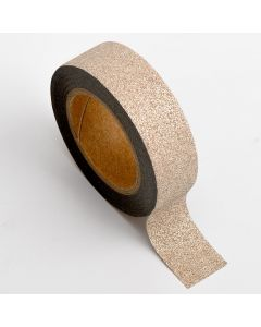 AT007 - Adhesive Washi Tape – Glitter – Rose Gold 15mm x 10m