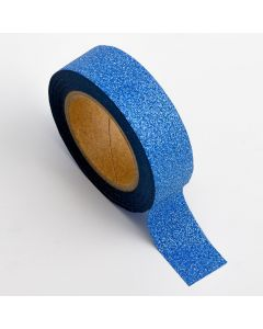 AT009 - Adhesive Washi Tape – Glitter – Sapphire 15mm x 10m