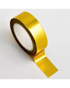 AT011 - Adhesive Washi Tape – Foil – Gold 15mm x 10m