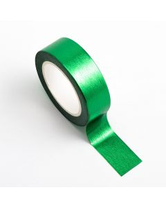 AT023 - Adhesive Washi Tape – Foil – Emerald Green 15mm x 10m