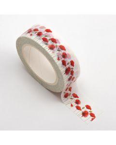 AT028 - Adhesive Washi Tape 15mm x 10M – Poppies