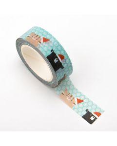 AT043 - Adhesive Washi Tape – Christmas Animals 15mm x 10m