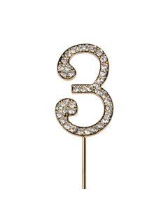 Diamante No 3 - Gold Colour Wire