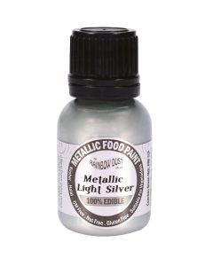 Rainbow Dust Metallic Edible Paint: Light Silver (25ml)