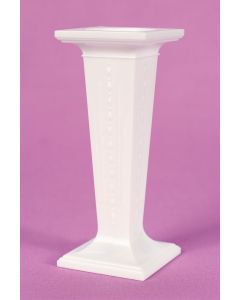 "3.5"" Square White Plastic Pillars - Set of 3"