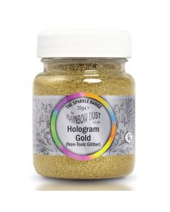 Rainbow Dust Non-Toxic/Non-Edible Decorators Glitter - Gold Hologram 35g