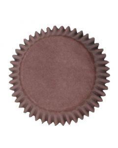 Brown Plain Printed Baking Cases - 50