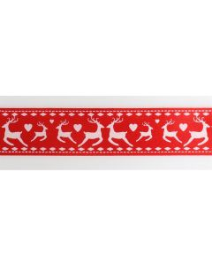 Reindeer Red Ribbon Retail Pack 2m