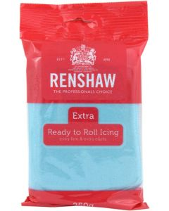 Renshaw Extra Baby Blue Ready to Roll Icing 250g (Best Before 6.21)