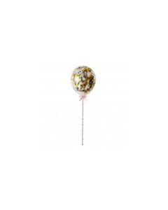 Black & Gold Confetti Cake Balloons - Pack of 5