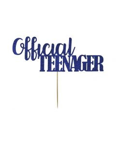 Cake Topper - Official Teenager - Navy Blue