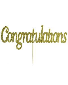 Cake Topper - Congratulations - Gold