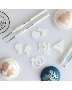 SWEET STAMP    Mr & Mrs Embossing Elements