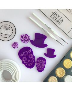 SWEET STAMP   Day of the Dead Embossing Elements
