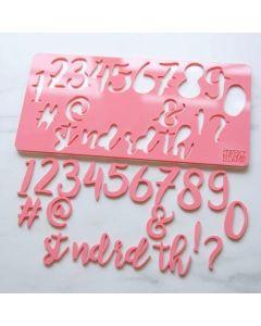SWEET STAMP   Stylish Numbers & Symbols Embossing Set