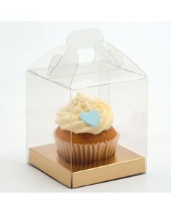 Transparent Box with Handle 90x90x100mm (single) - Does not include insert