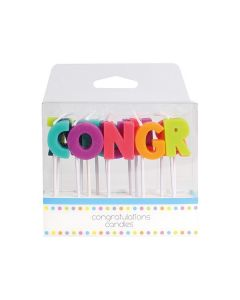 Congratulations Candles - single