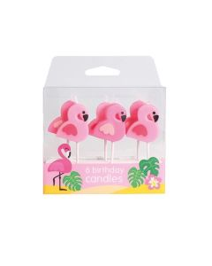 Flamingo Candles - 6 pce - single