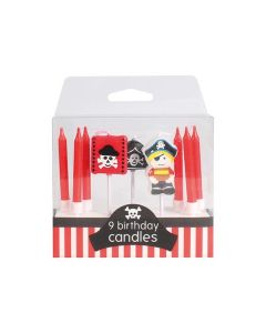 Pirate Candles - 9 piece