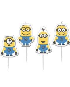 Minions Birthday Candles - Pack of 4