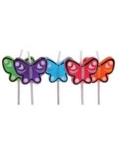 Birthday Candles - 5 x Butterfly