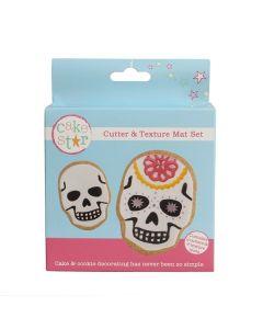 Cake Star Cutter & Texture Mat Set - Skulls