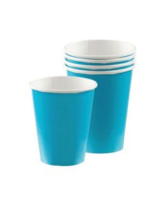 Caribbean Blue Party Cups - Paper