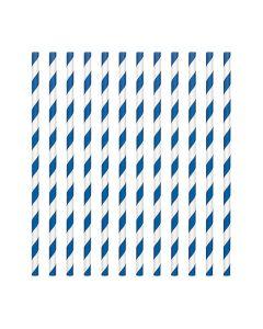 Royal Blue Candy Stripe Paper Straws