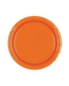 Orange Party Plates - Paper