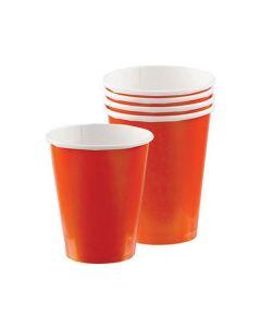 Orange Party Cups - Paper