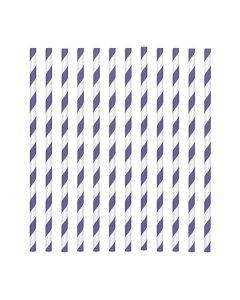 Purple Candy Stripe Paper Straws