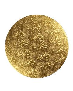 8'' (203mm) Gold Maple Leaf Double Thick Card Round (3mm thick) - Pack of 5