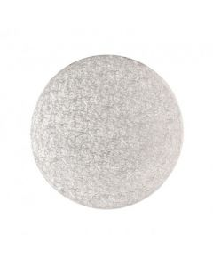 """10"""" Round Silver Drum - Single"""