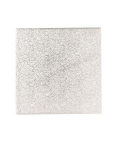 """9"""" Square Silver Drum - Single"""