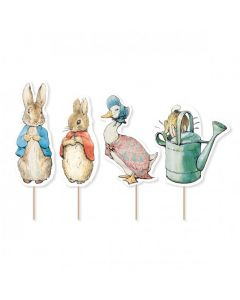 Anniversary House- Peter Rabbit Characture Cupcake Toppers