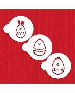 Designer Stencils-  Egg-cellent Easter Animals Stencil Set