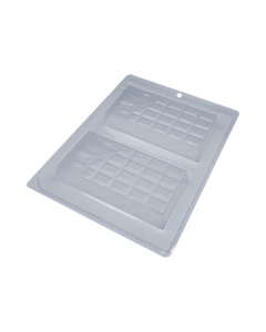 BWB 9909 - Melted Bar 3-Part Chocolate Mould (14-N)