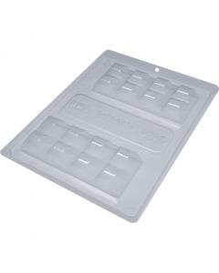 BWB 9697 - Bar Tablet 3-Part Chocolate Mould (37/39-N)
