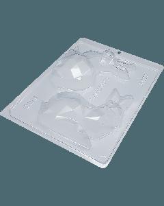 BWB 9877 - Diamond Rabbit Chocolate Mould (8-O)