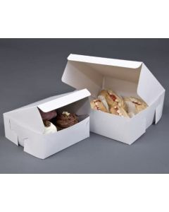 4 Cupcake White Box with 6cm Dividers (pack of 10)