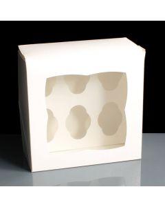 6 Count Mini Premium Cupcake Box - Single