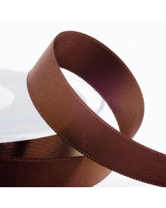 16mm Satin Ribbon x 2M - Brown