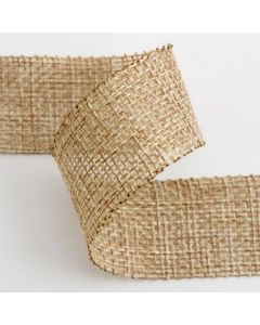 25mm Country Hessian Sealed Edge x10M - Natural