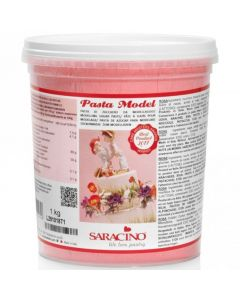 Saracino Light Pink Modelling Paste 1kg (Cracked Tub and Best Before End 31/3/21)