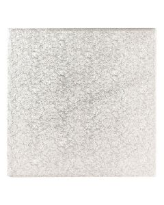 """10"""" Square Silver Cake Board in 5mm Thick  (Pack of 5)"""