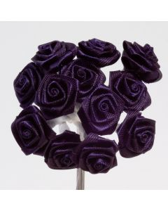 Navy ribbon rose – 144 Pack