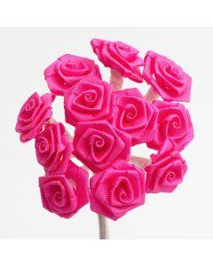 Fuchsia ribbon rose – 144 Pack