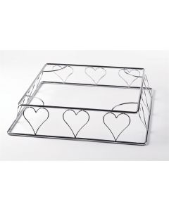 Heart Wire Cake Stand - Square