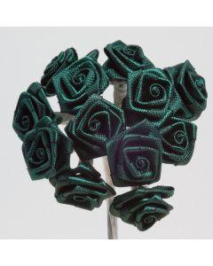 Bottle green ribbon rose – 144 Pack