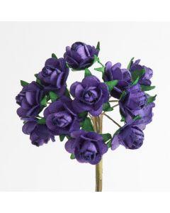 Purple paper tea rose – 144 Pack